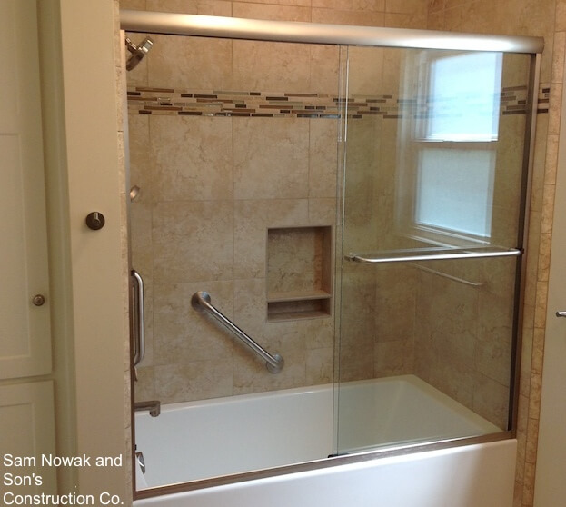 how to install shower grab bars