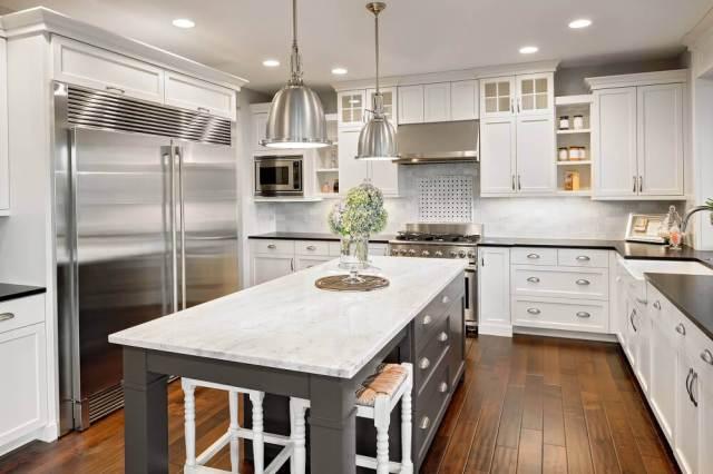 Black And White Family Kitchen