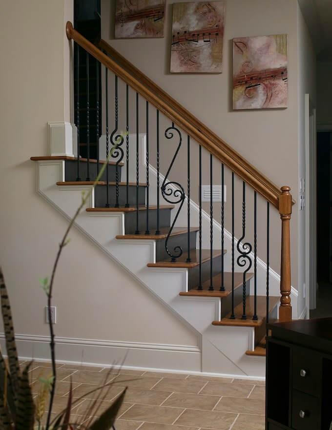 2020 Wood Stairs Installation Cost Repair Wood Stairs | Cost To Refinish Handrail | Hardwood Stairs | Wrought Iron | Interior | Stair Treads | Refinishing Hardwood Floors