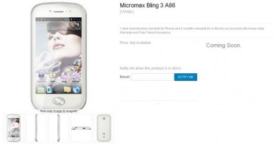 Micromax Bling 3