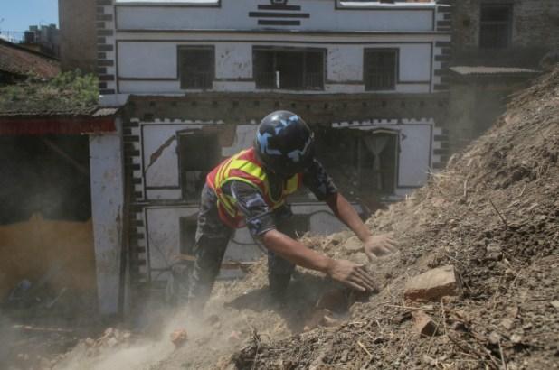 rescue worker in Nepal