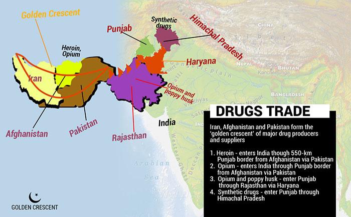 Image result for The Afghanistan Golden Crescent Drug Trade