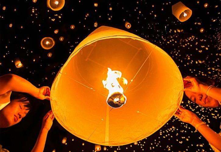 Lantern festival in Chiang Mai, Thailand