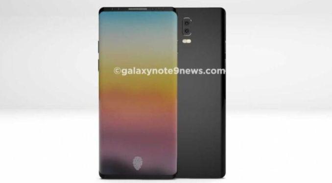 Samsung Galaxy Note 9 render courtesy:galaxynote9news.com