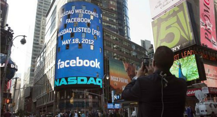 Facebook IPO in 2012