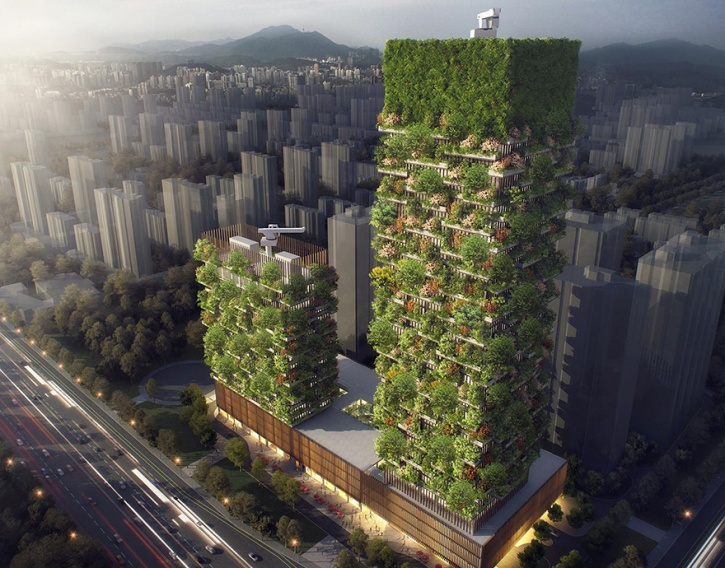 vertical forest  Asia's First Vertical Forest Is Being Built In China Which Will Produce 60 Kg Oxygen Every Day vertical forest stefano boeri china 4 1486442827