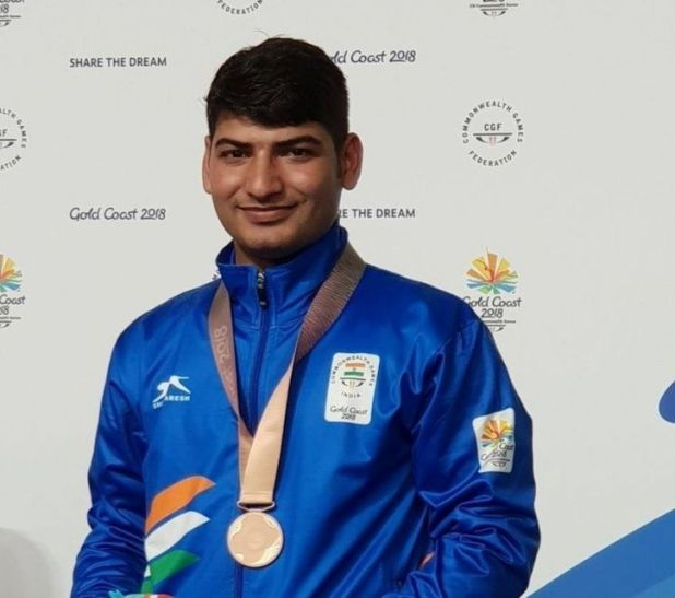 Om Mitharwal has won 2 medals at CWG 2018
