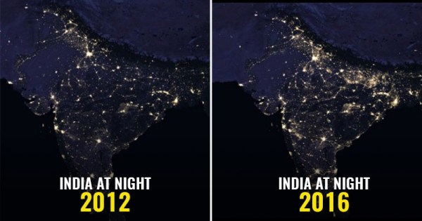 NASA Releases Images Of India As Seen From Space At Night ...