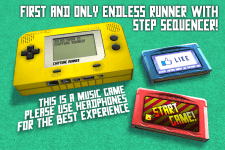 Chiptune Runner - Main menu concept
