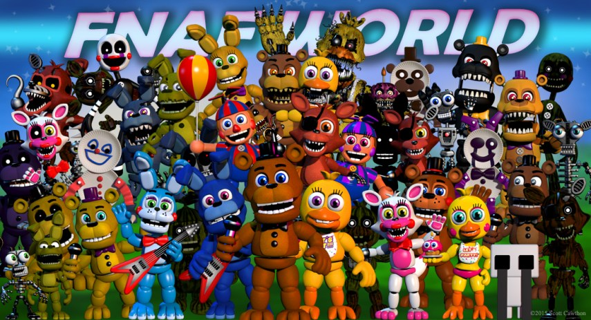 FNAF WORLD  image   Five Nights of Theories   Indie DB  view original   FNAF WORLD