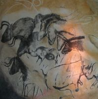 Paintings from the Chauvet cave