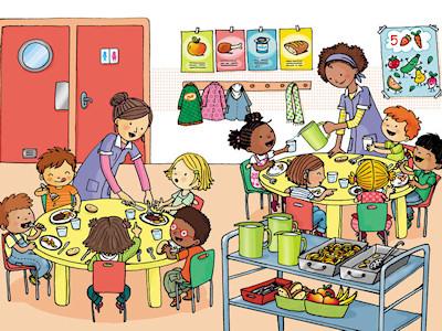 Dessin d'un restaurant d'enfants