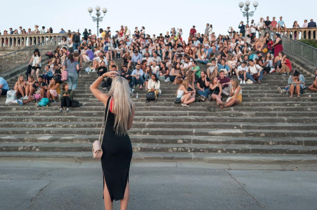 La scalinata di piazzale Michelangelo, il 9 giugno 2018. - Ilaria Di Biagio per Internazionale