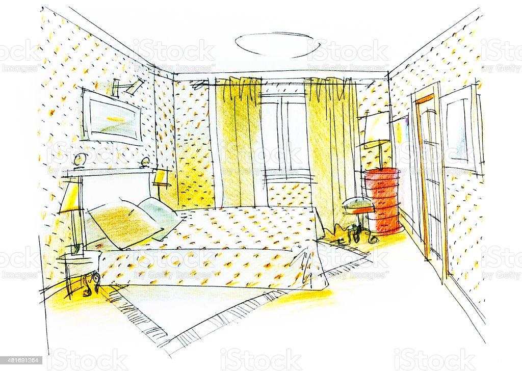 https www istockphoto com fr vectoriel la chambre de dessin crayon de couleur gm481691264 69625713