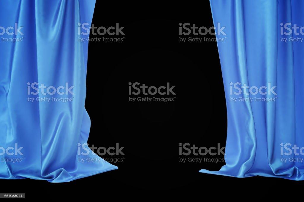 draperie theatre de velours bleu etape rideaux ecarlate rideau de theatre de rideaux de soie classique bleu rendu 3d vecteurs libres de droits et plus d images vectorielles de abstrait istock