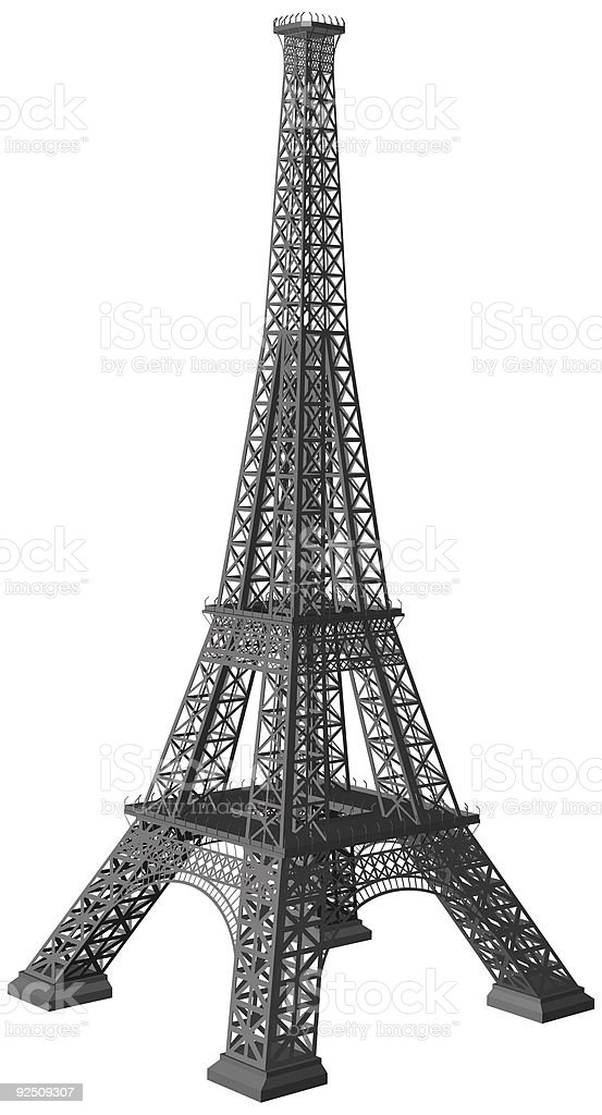 Eiffel Tower Vector 3d Illustration Stock Vector Art