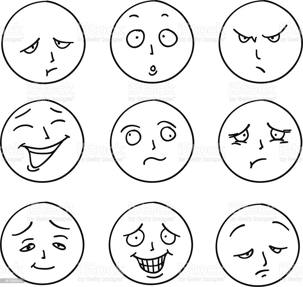 Feelings And Emotions Coloring Pages