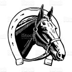 Horse And Horseshoe Stock Illustration Download Image Now Istock