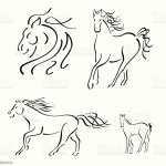 Horse Design Set Stock Illustration Download Image Now Istock