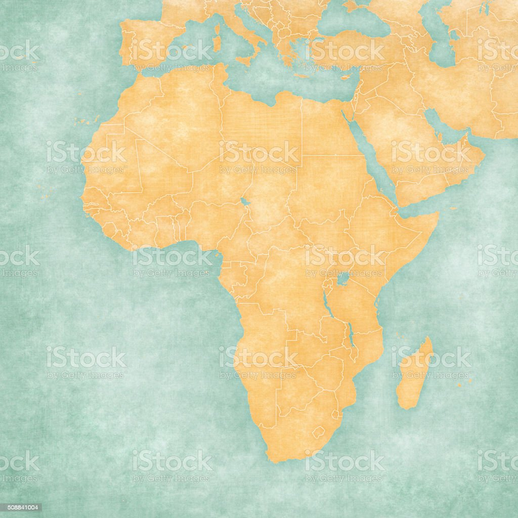 Map Of Africa Blank Map stock vector art 508841004   iStock