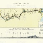 Map Plan Of The Panama Canal 19th Century Stock Illustration Download Image Now Istock