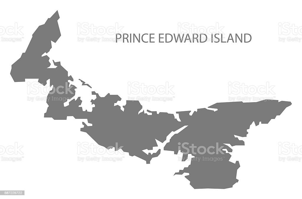 Advertisement prince edward island map outline
