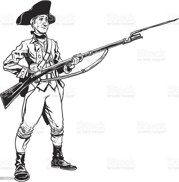 Revolutionary War Soldier Stock Illustration - Download ...