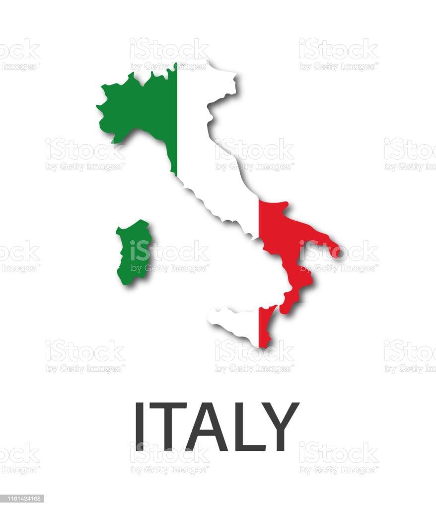https www istockphoto com fr vectoriel illustration simple de l c3 a9tat de litalie dans laspect du drapeau italien gm1161424168 318253137