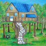Vetores De Treehouse E Mais Imagens De Balanco De Pneu Istock