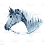 Watercolor Cowboy Western Horse Head With Bridle Stock Illustration Download Image Now Istock