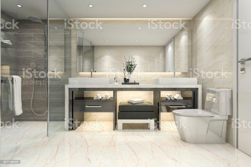 3d Rendering Modern Classic Bathroom With Luxury Tile ... on Small:e_D8Ihxdoce= Bathroom Ideas  id=54119