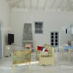 3d Rendering Of A Mediterranean House Interior Design Stock Photo Download Image Now Istock