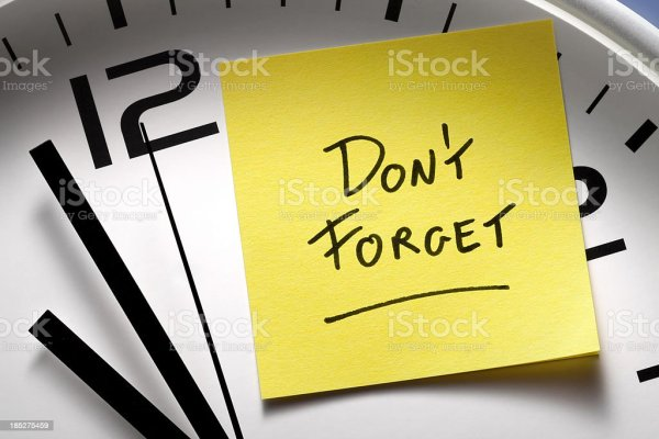 Appointment Reminders Clock With Yellow Sticky Note Stock ...