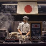 Thailand Bangkok 07 February 2017 Asian Chef Is Cooking And Cutting Japanese Food In An Authentic Japanese Restaurant Kitchen Stock Photo Download Image Now Istock