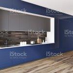 Schwarz Und Blau Modische Kuche Arbeitsplatte Seite Stockfoto Und Mehr Bilder Von Architektur Istock