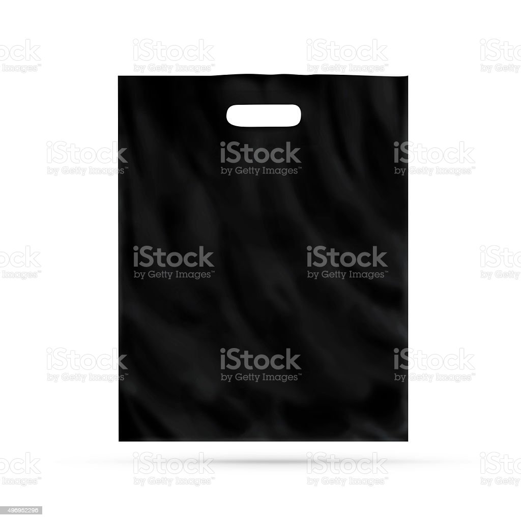 Realistic vector mock up plastic black food stand up flexible pouch sachet blank packaging template mockup isolated on white. Blank Black Plastic Bag Mock Up Isolated Stock Photo Download Image Now Istock