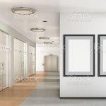 Leere Poster An Der Wand Im Modernen Buro Stockfoto Und Mehr Bilder Von Arbeitsstatten Istock