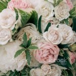 Blush And White Wedding Bouquet Stock Photo Download Image Now Istock