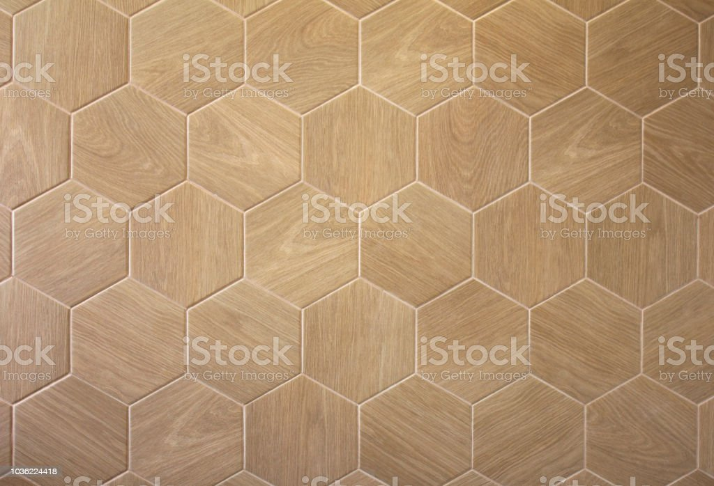 brown floor hexagon tile with texture of a tree stock photo download image now istock
