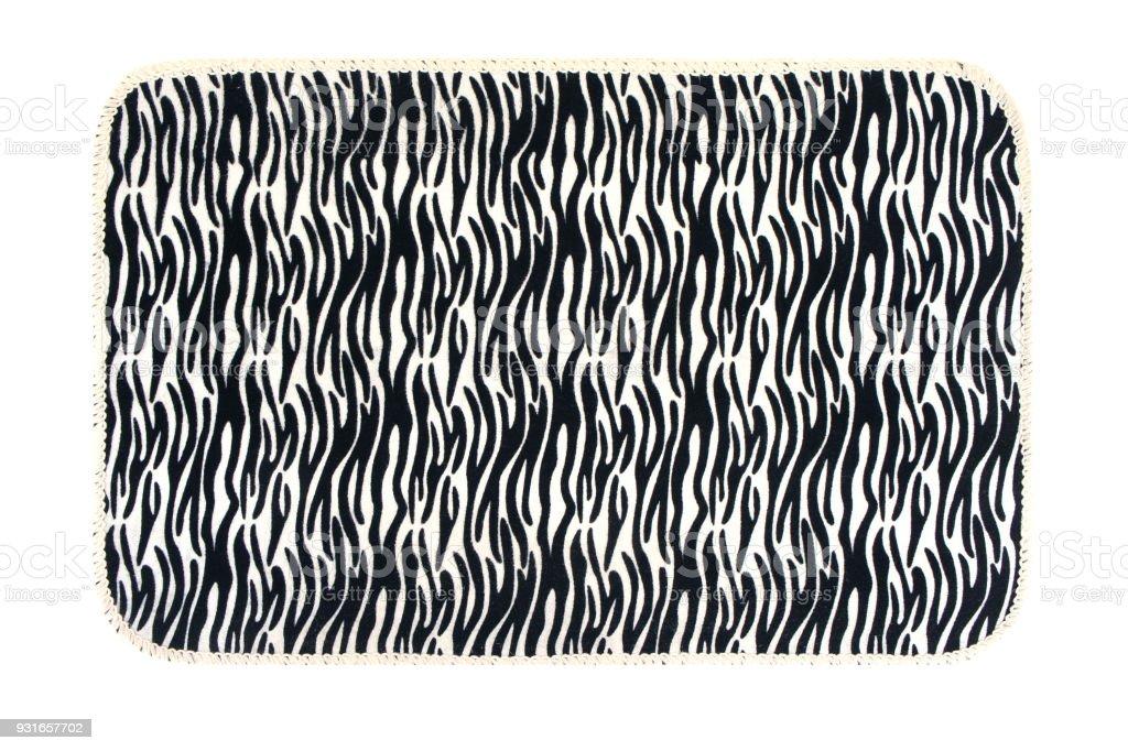 photo libre de droit de tapis avec une texture zebree abstraite sur fond blanc dessin abstrait de rayures de zebre ligne de fond de lart tissu imprime photo banque d images et plus