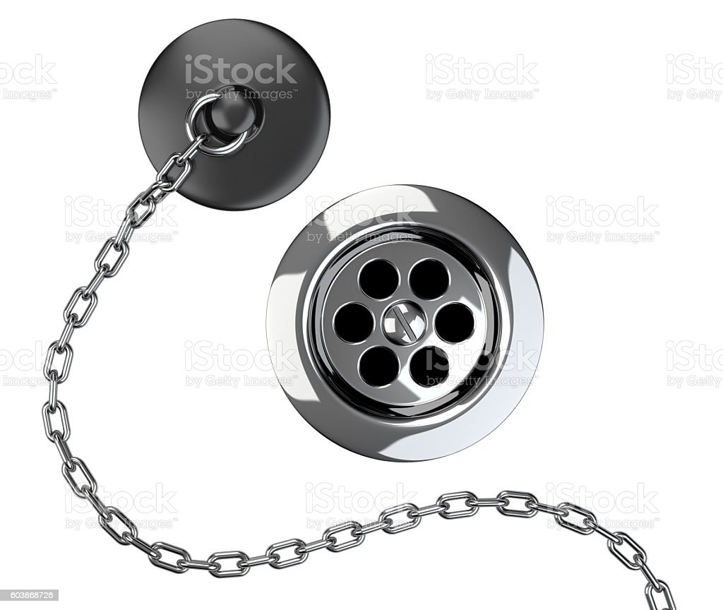 https www istockphoto com photo chrome sink drain and rubber plug with chain gm603868726 103680897