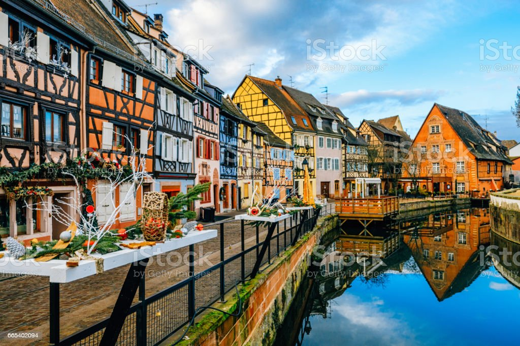 Colorful Houses In Petit Venice Colmar France Stock Photo