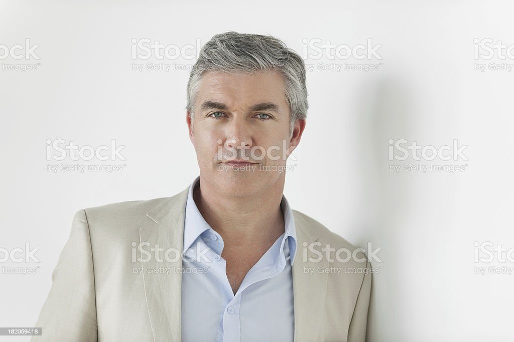 Royalty Free Silhouette Of The Handsome 50 Year Old Men