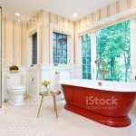 Contemporary Bathroom Design With Freestanding Iron Bathtub Stock Photo Download Image Now Istock