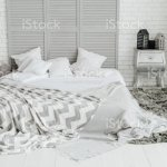 Cozy Grey Bedroom Interior Spacious Room Design Stock Photo Download Image Now Istock