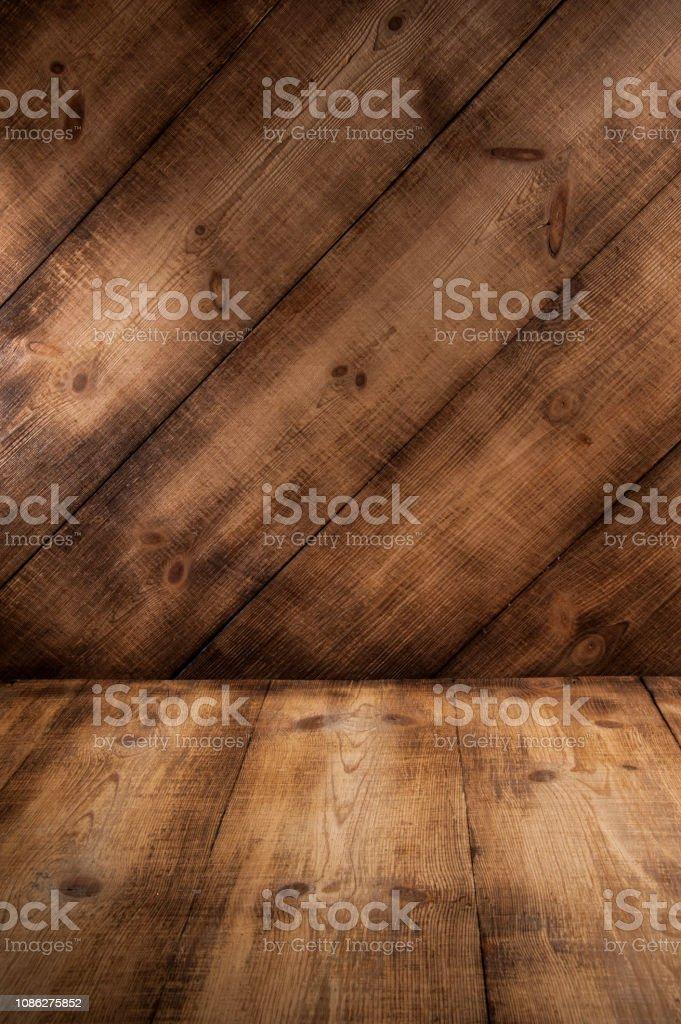 https www istockphoto com fr photo arri c3 a8re plan fonc c3 a9 planche bois plancher et mur gm1086275852 291458721