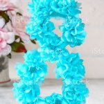 Diy Eight Made Cardboard Decorated Artificial Flower Made Blue Tissue Paper Napkin White Background Stock Photo Download Image Now Istock