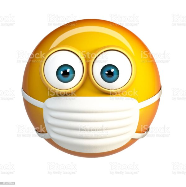 Emoji With Hygienic Mask Surgical Mask Face Emoticon Stock ...