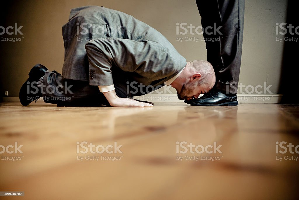 Employment Issues Kissing Feet For Success Stock Photo ...