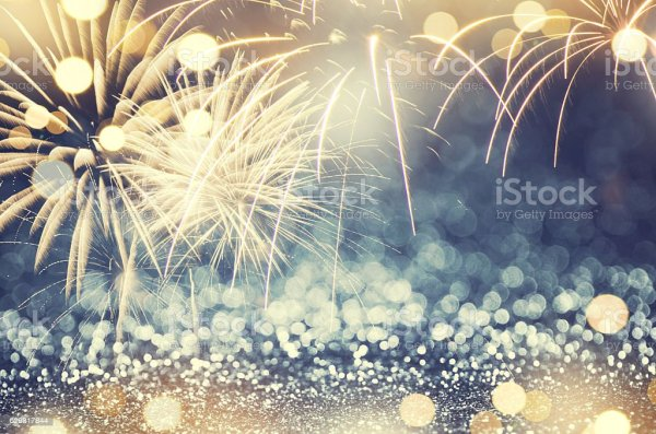 Fireworks Background New Year Stock Photo - Download Image ...